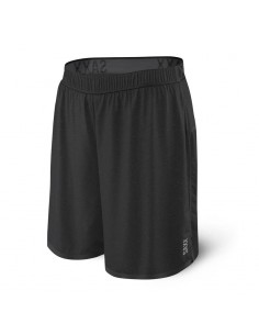 Pantalón 2en1 SAXX Pilot Run Shorts Black Heather